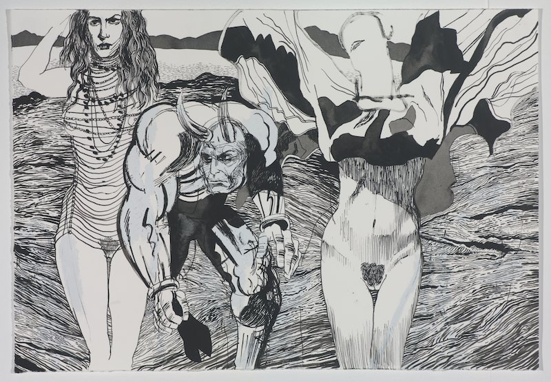 Judith Picasso Minotaur and Gaga on the wastelands